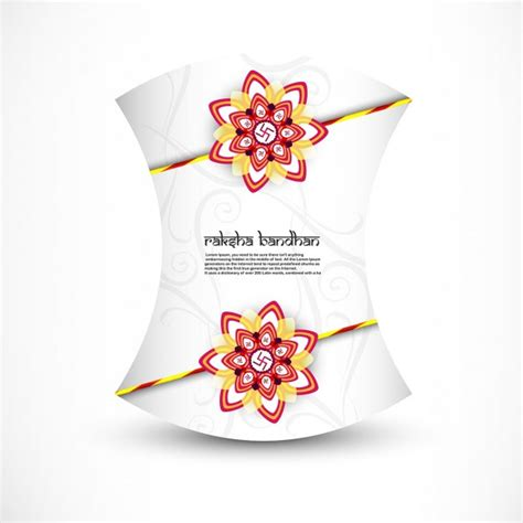 raksha bandhan card template raksha bandhan greeting card vector free