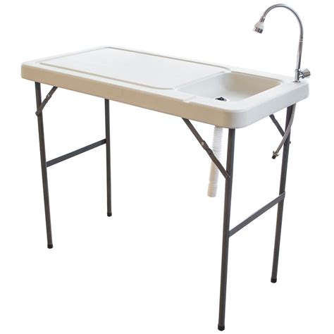 Fishing Table by Sportsman Folding Fish Table With Table With Faucet