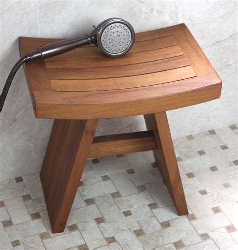 bench shower original asian style 18 quot teak shower bench