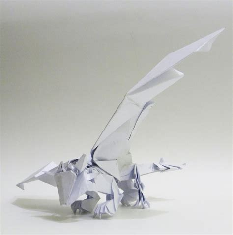 Origami Toothless - origami toothless by twistedndistorted on deviantart