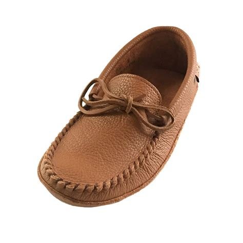 mens leather moccasins slippers mens soft sole brown leather laurentian chief moccasins