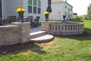 patio wall blocks landscapes complete inc pictures ideas