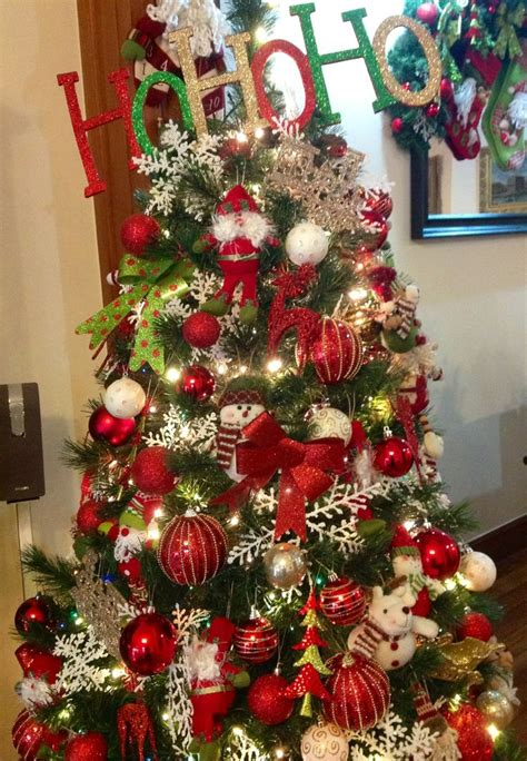 red green and gold christmas tree ideas for new old