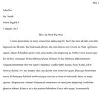 College Essay Header by College Papers Heading