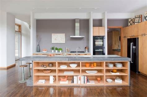 kitchen island shelves open shelves kitchen island desainrumahkeren com