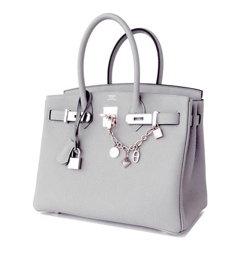 Hermes Togo Grey hermes birkin bag 30cm gris mouette grey togo palladium