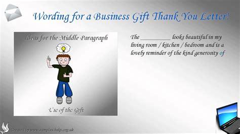 write  business gift   letter youtube
