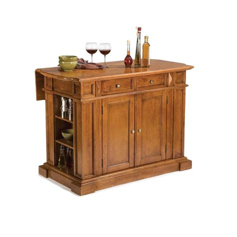 Kitchen Island With Leaf Home Styles Americana Distressed Cottage Oak Kitchen