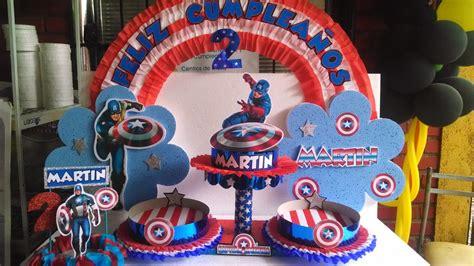 capitan america decoracion ambientacion cotilln fiestas decoraciones infantiles capitan america