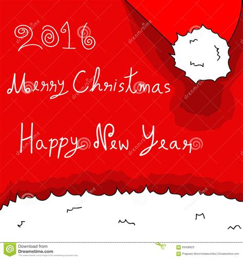 happy new year 2016 and merry christmas images merry christmas and happy new year 2016 santa hat stock