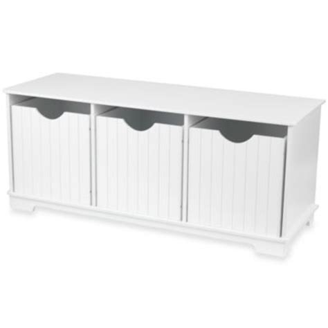 storage bench seat white buy white storage bench seat from bed bath beyond