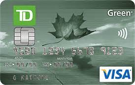 td business credit cards td canada trust td green visa card