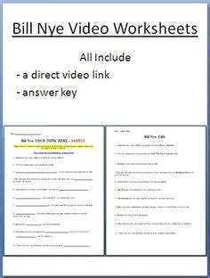 Bill Nye States Of Matter Worksheet by Science Ideas On Water Cycle Food Chains And