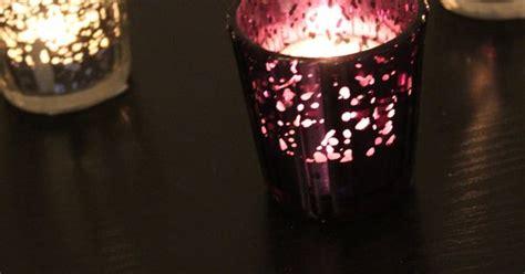 set of 10 mercury glass purple plum eggplant amethyst speckled glass candle holders votive