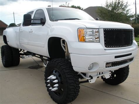 lifted gmc pics for gt gmc trucks lifted white