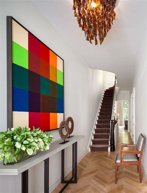 townhouse entryway ideas townhouse foyer with framed colorful wall art home