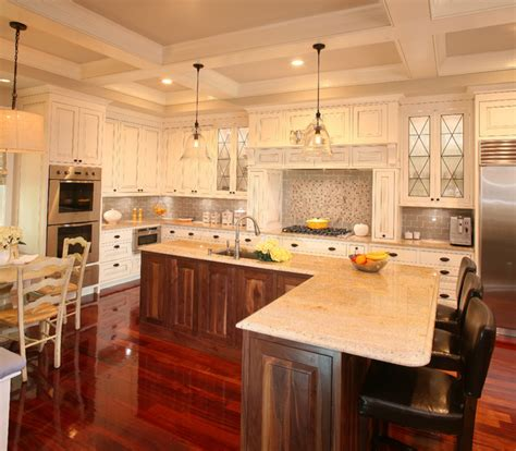 One Wall Kitchen With Island Designs Kitcen Coffered Ceiling Remodel Kitchen Charleston