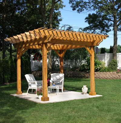 wood pergola plans pergola wood vanguard home innovations four