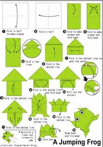 How To Make A Paper Frog Origami - best 25 origami frog ideas on easy origami