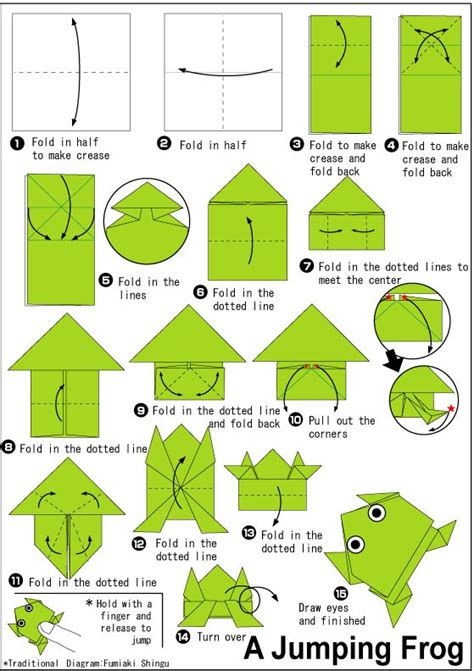 Easy Jumping Frog Origami - best 25 origami frog ideas on jumping frog