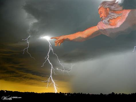 In God S when god is angry the food of chions
