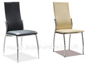 modern chrome metal pu leather dining chairs for sale