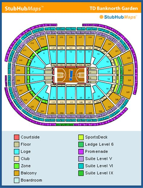 celtics floor plan td garden seating chart pictures directions and history