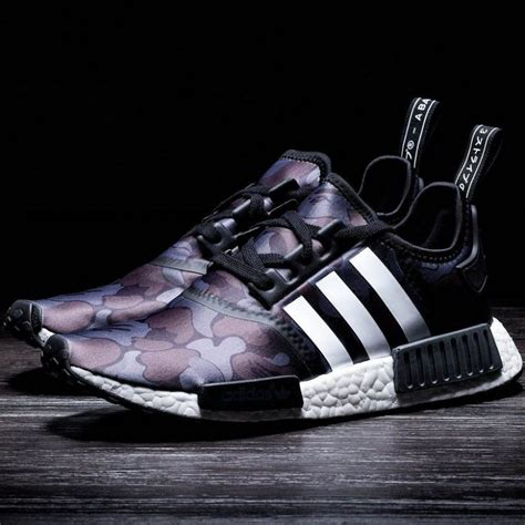 Adidas Nmd Collaborations bape x adidas nmd r1 black camo 187 petagadget