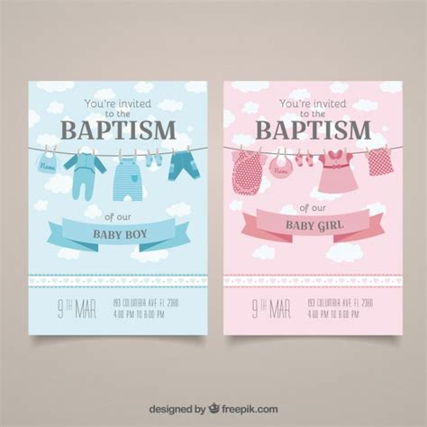 christening invitation card template psd baptism invitation cards vector free