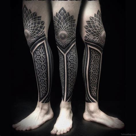 49 superb geometric tattoos on leg