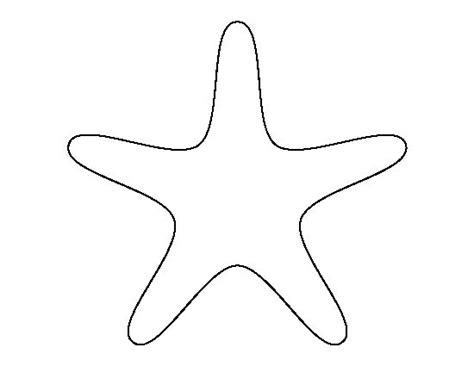 template of starfish starfish pattern use the printable outline for crafts creating stencils scrapbooking and