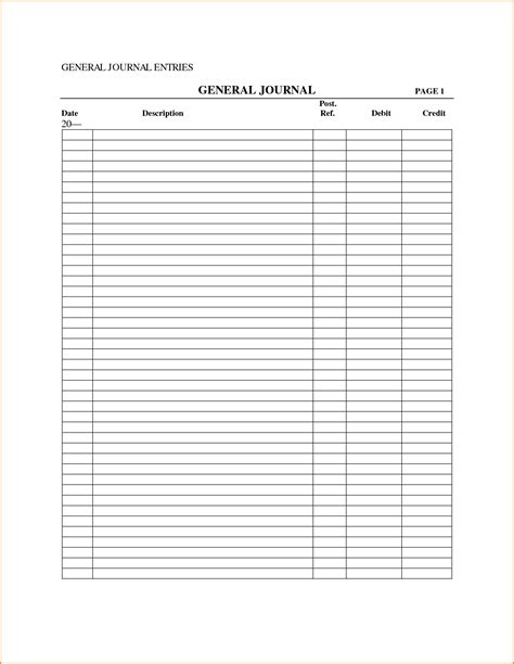 general journal template www imgkid com the image kid