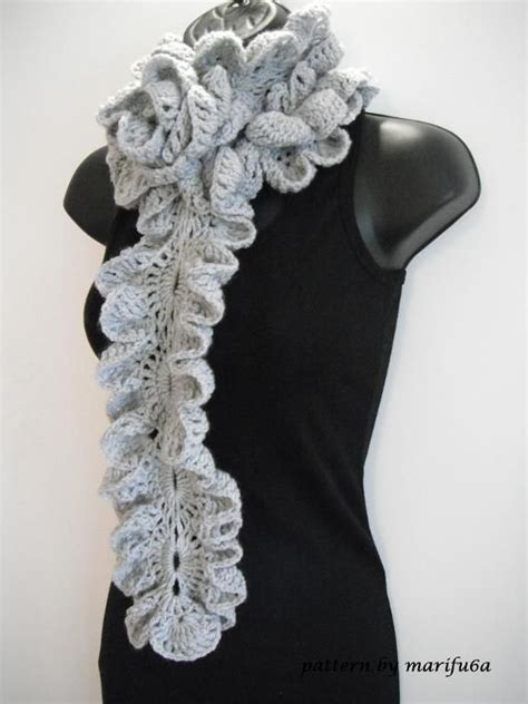 pattern for knitted scarf with ruffle crochet ruffle scarf free pattern crochet and knit