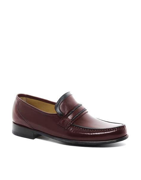 moccasin loafers for lyst loake moccasin loafers in brown for