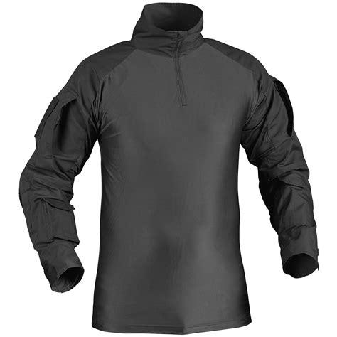 Combat Shirt Black helikon ubacs army armour mens combat shirt