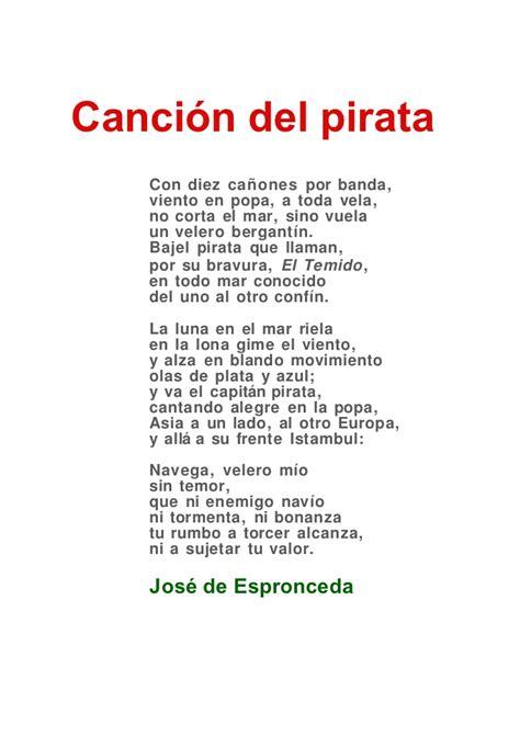 poemas con 3 estrofas de amor canci 243 n del pirata tres estrofas