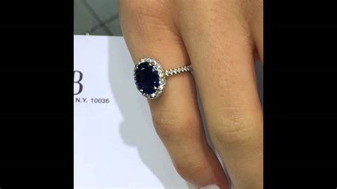 zamrud 2 4ct 3 ct blue oval sapphire in halo engagement ring