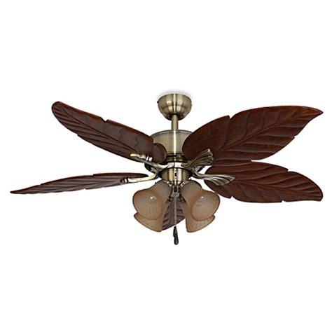 palm leaf ceiling fan buy bronze leaf from bed bath beyond