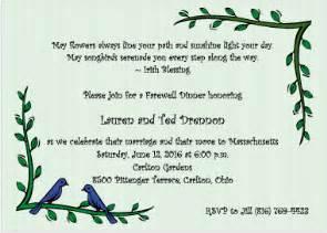 blue birds going away invitations