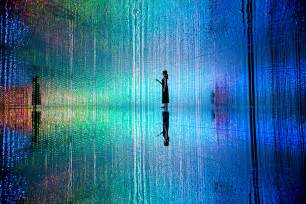 Office Interior Designers Teamlab Stages Its Largest Immersive Digital Art
