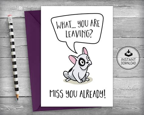 employee leaving card template farewell card new cards goodbye cards going away