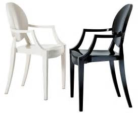 fauteuil empilable louis ghost polycarbonate noir opaque