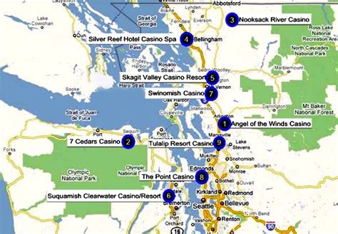 indian casinos in map washington indian casinos by tribes american