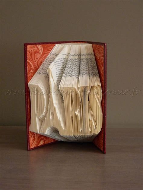 pattern paper book patron livre pli 233 quot paris quot quot paris quot folded book pattern