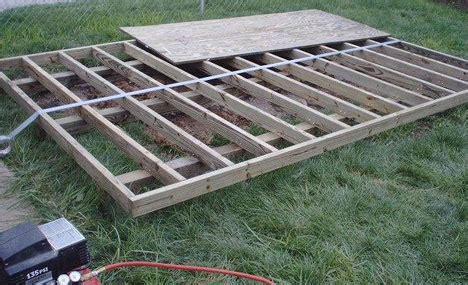 build  shed base  paving slabs