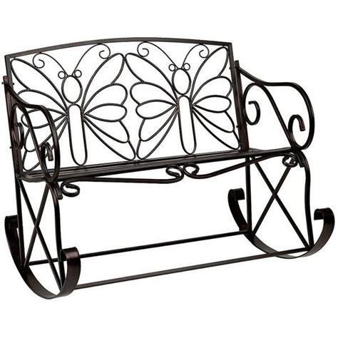 butterfly rocker chair black butterfly outdoor metal bench rocker 150 liked on