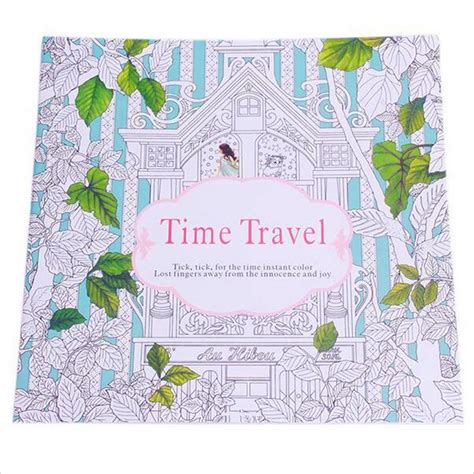 libro time travelling with a relieve stress for children painting drawing book 24
