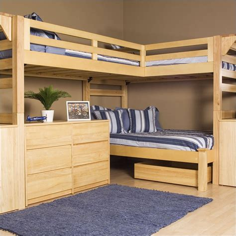 bunk bed for 3 shared kids room designs for three or more children