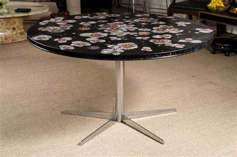 decoupage dining room table dining table with decoupage top at 1stdibs