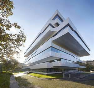 house structure design zaha hadid designs commercial office structure clad in